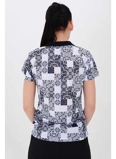 Tryon Tryon Kadın Polyester Polo T-Shirt Eliz Beyaz